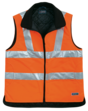 SECURITY Warnweste, gefüttert, S-XXL, CE/EN 471, Swiss Made, leuchtorange