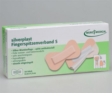 WERO MEDICAL Silverplast, Fingerspitzenverband, Hypoallergen