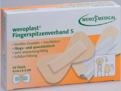 WERO MEDICAL Weroplast, Fingerspitzenverband S, 50 Stk.