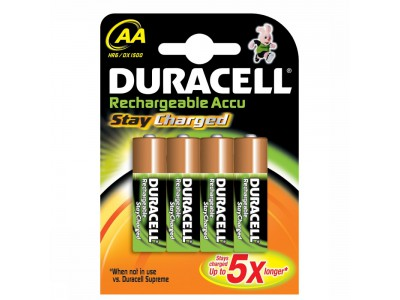 DURACELL StayCharged Akku, 2100 mAh, 4 Stk., 14.5x14.5x50.5 mm