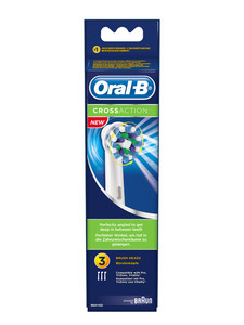 ORAL-B CrossAction, 3 Stk., runder Bürstenkopf