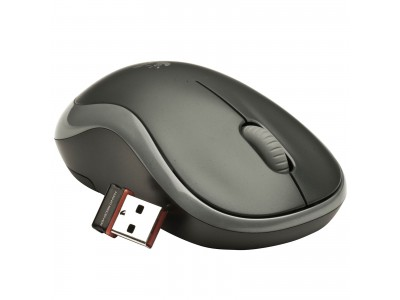 LOGITECH M185 Wireless Mouse, 2.4 GHz, Nano, USB, AA