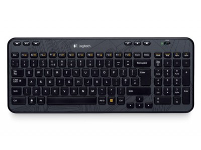 LOGITECH K360 Wireless Keyboard, 2.4 GHz, Unifying, USB, 2x AA