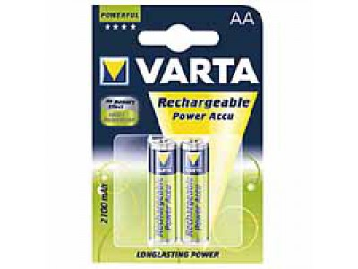 VARTA Rechgargeable Power Accu, 2100 mAh, 2 Stk., 14.5x14.5x50.5 mm