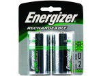 ENERGIZER Rechargeable, 2200 mAh, 2 Stk., 34x34x61.5 mm