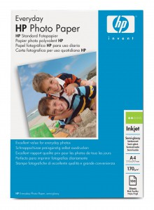 HP Everyday Semi Glossy Photo Paper, A4, 210x297 mm, 170 g/m2, Fotopapier, seidenmatt, 100 Stk.