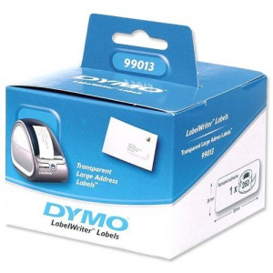 DYMO Adress-Etikett, transparent, 89x36 mm, 1 Stk., Webstamp
