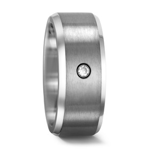 Partnerring Titan Zirkonia, 8 mm, MSt; 2.5 mm, 48/52/54/56/58/62