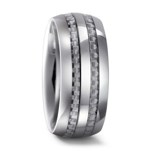Partnerring Wolfram Carbon, 8 mm, MSt; 2 mm, 48/50/52/54/56/58/60/62/64/66/68/70/72