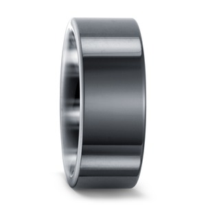 Partnerring Keramik, 8 mm, MSt; 2 mm, 48/50/52/54/56/58/60/62/64/66/68/70/72