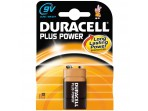 DURACELL Plus Power, 9.0 V Block, Alkaline, 1 Stk., HR22, 6LR61